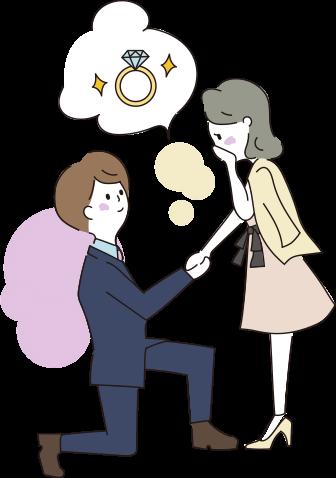 プロポーズするイラスト