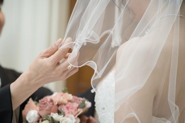結婚式、花嫁の写真